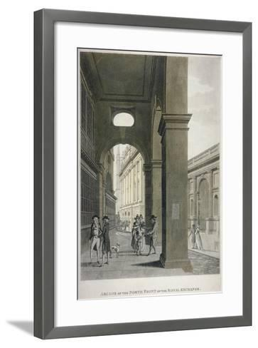 Arcade on the North Front of the Royal Exchange, City of London, 1797-Thomas II Malton-Framed Art Print