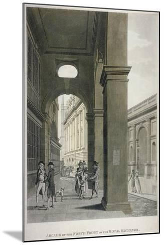 Arcade on the North Front of the Royal Exchange, City of London, 1797-Thomas II Malton-Mounted Giclee Print