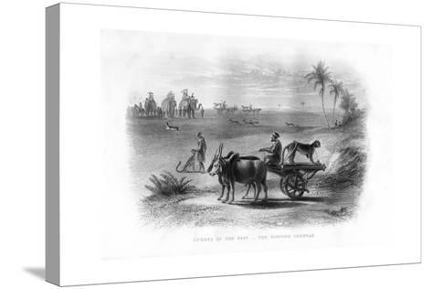 Sports of the East, the Hunting Cheetah, 19th Century--Stretched Canvas Print