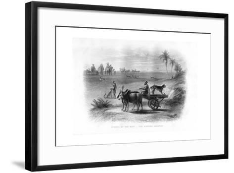 Sports of the East, the Hunting Cheetah, 19th Century--Framed Art Print