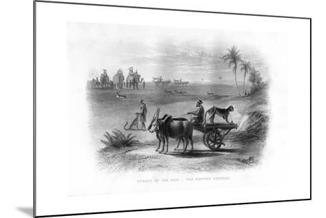 Sports of the East, the Hunting Cheetah, 19th Century--Mounted Giclee Print
