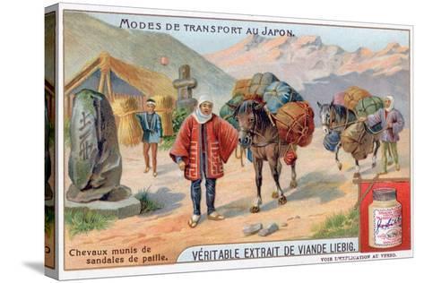 Modes of Transport in Japan, 19th Century-Justus Freiherr von Liebig-Stretched Canvas Print