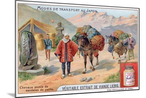 Modes of Transport in Japan, 19th Century-Justus Freiherr von Liebig-Mounted Giclee Print