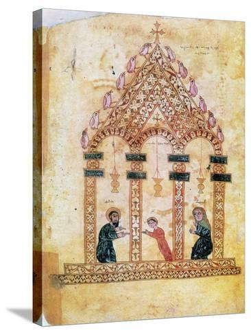 Presentation of Jesus at the Temple, 13th Century--Stretched Canvas Print