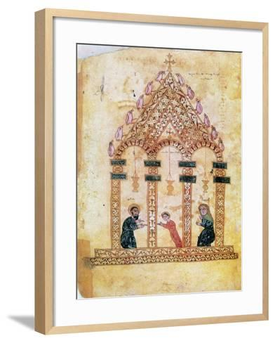 Presentation of Jesus at the Temple, 13th Century--Framed Art Print