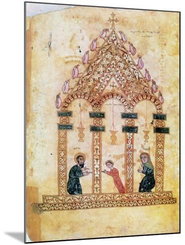 Presentation of Jesus at the Temple, 13th Century--Mounted Giclee Print
