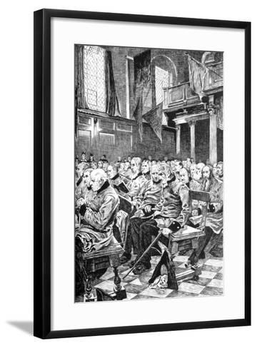 The Last Muster, 1875 (C1880-188)-Hubert von Herkomer-Framed Art Print