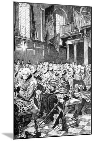 The Last Muster, 1875 (C1880-188)-Hubert von Herkomer-Mounted Giclee Print