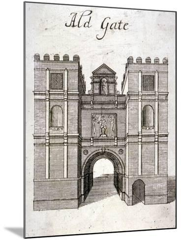 Aldgate, London, C1800--Mounted Giclee Print
