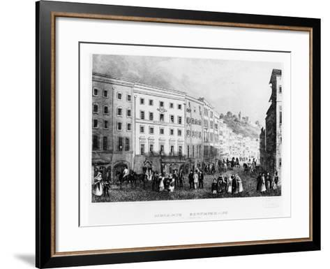 The House in Salzburg in Which Mozart Was Born in 1791, (Mid 19th Centur)--Framed Art Print
