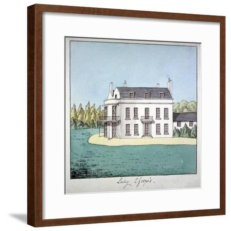 Lady Essex's House, Mile End Road, Stepney, London, C1800--Framed Art Print