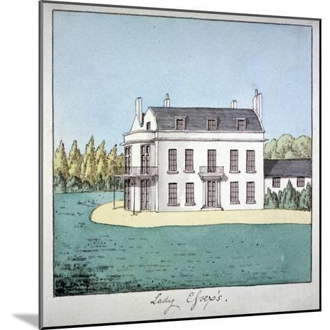 Lady Essex's House, Mile End Road, Stepney, London, C1800--Mounted Giclee Print