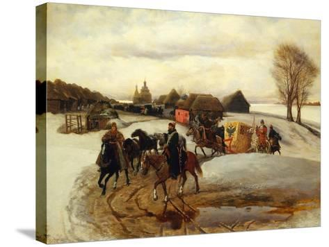 The Spring Pilgrimage of the Tsarina at the Time of Tsar Alexis I Mikhailovich, 1868-Vyacheslav Grigoryevich Schwarz-Stretched Canvas Print