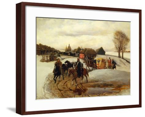 The Spring Pilgrimage of the Tsarina at the Time of Tsar Alexis I Mikhailovich, 1868-Vyacheslav Grigoryevich Schwarz-Framed Art Print