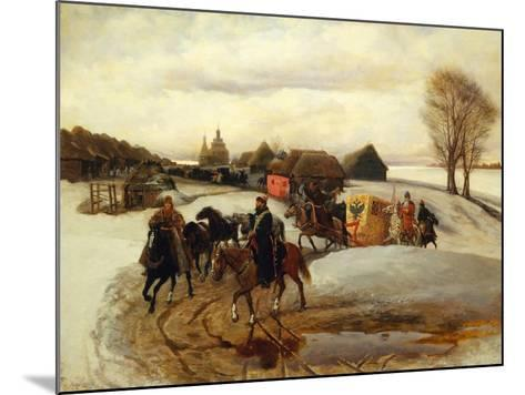 The Spring Pilgrimage of the Tsarina at the Time of Tsar Alexis I Mikhailovich, 1868-Vyacheslav Grigoryevich Schwarz-Mounted Giclee Print