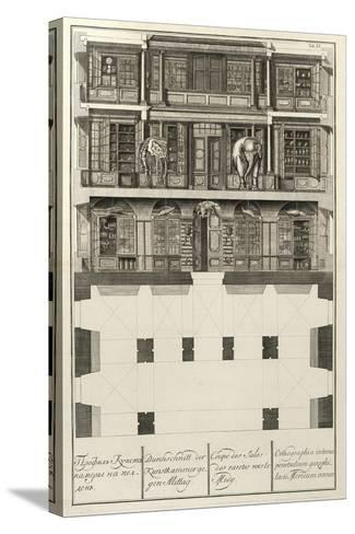 Kunstkammer (From: the Building of the Imperial Academy of Science), 1741-Christian Albrecht Wortmann-Stretched Canvas Print
