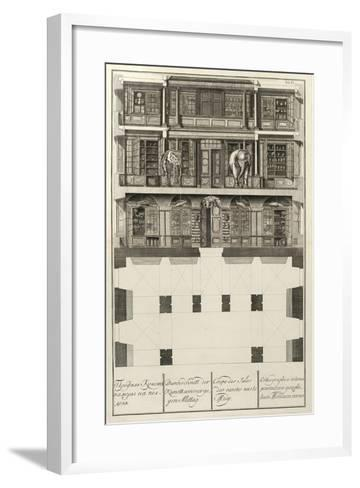 Kunstkammer (From: the Building of the Imperial Academy of Science), 1741-Christian Albrecht Wortmann-Framed Art Print