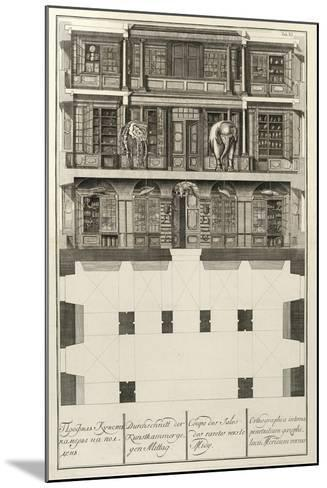 Kunstkammer (From: the Building of the Imperial Academy of Science), 1741-Christian Albrecht Wortmann-Mounted Giclee Print