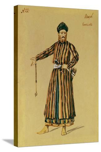 Costume Design for the Opera Prince Igor by A. Borodin, 1890-Evgeni Petrovich Ponomarev-Stretched Canvas Print