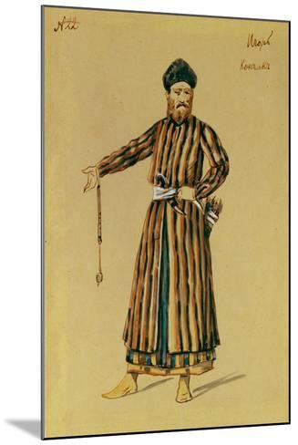 Costume Design for the Opera Prince Igor by A. Borodin, 1890-Evgeni Petrovich Ponomarev-Mounted Giclee Print