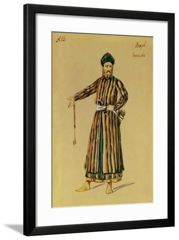 Costume Design for the Opera Prince Igor by A. Borodin, 1890-Evgeni Petrovich Ponomarev-Framed Art Print