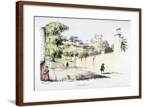 Greenwich Park, Greenwich, London, C1850-T Turner-Framed Art Print