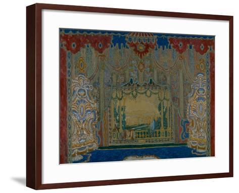 Stage Design for the Theatre Play Don Juan by Moliére, 1910-Alexander Yakovlevich Golovin-Framed Art Print