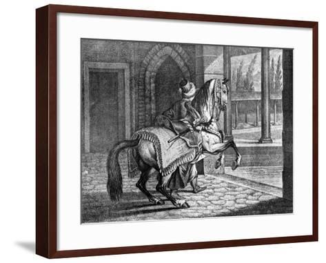Turkish Sultan's Arabian Saddle Horse, 1722--Framed Art Print