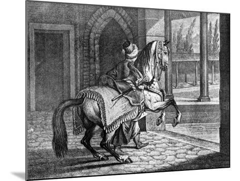 Turkish Sultan's Arabian Saddle Horse, 1722--Mounted Giclee Print