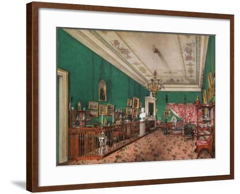 Interiors of the Winter Palace, the Bedroom of Grand Princess Maria Nikolayevna, 1837-Konstantin Andreyevich Ukhtomsky-Framed Art Print