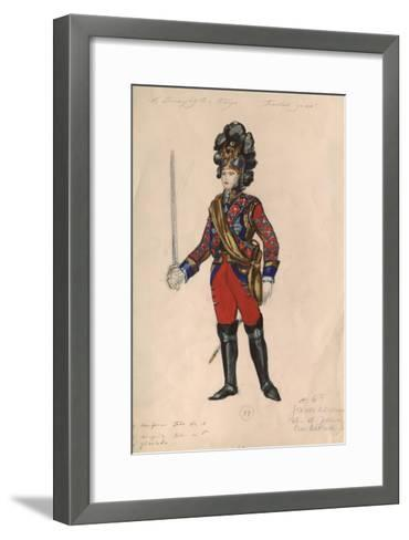 Costume Design for the Opera Queen of Spades by P. Tchaikovsky, 1981-Nina Alexandrovna Vinogradova-Benois-Framed Art Print