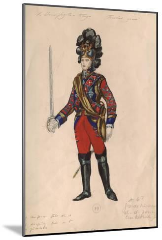 Costume Design for the Opera Queen of Spades by P. Tchaikovsky, 1981-Nina Alexandrovna Vinogradova-Benois-Mounted Giclee Print