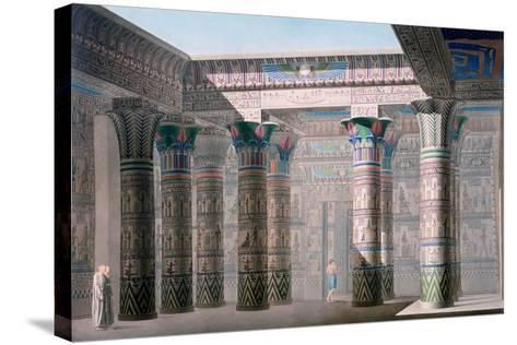 Grand Temple, Isle of Philae, Nubia, Egypt, 19th Century-Pere Pere-Stretched Canvas Print