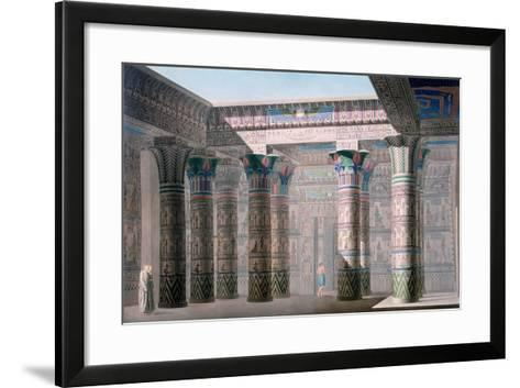 Grand Temple, Isle of Philae, Nubia, Egypt, 19th Century-Pere Pere-Framed Art Print