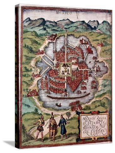 Mexico City in the Early 16th Century-Hernando Cortes-Stretched Canvas Print