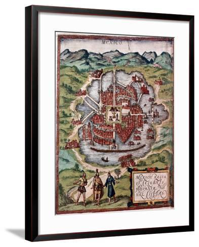 Mexico City in the Early 16th Century-Hernando Cortes-Framed Art Print