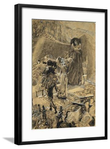 Tamara's Dance. Illustration to the Poem the Demon by Mikhail Lermontov, 1890-1891-Mikhail Alexandrovich Vrubel-Framed Art Print