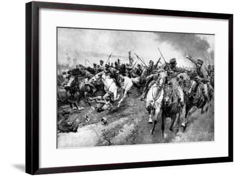 Russian Cossacks Attacking German Army, East Prussia, First World War, 1914--Framed Art Print