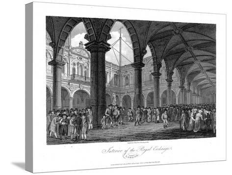 Royal Exchange, London, Late 18th Century--Stretched Canvas Print