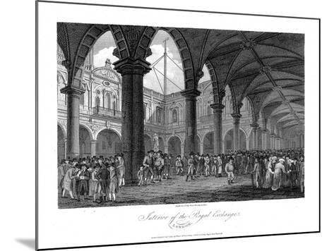 Royal Exchange, London, Late 18th Century--Mounted Giclee Print