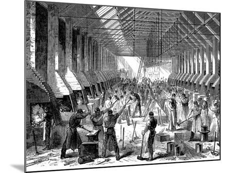 The Railway Carriage Company's Works, Oldbury, West Midlands, 1869--Mounted Giclee Print