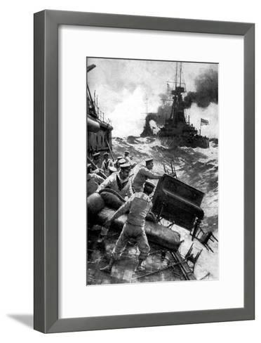 British Sailors Throwing Overboard Luxuries, North Sea, First World War, 1914--Framed Art Print
