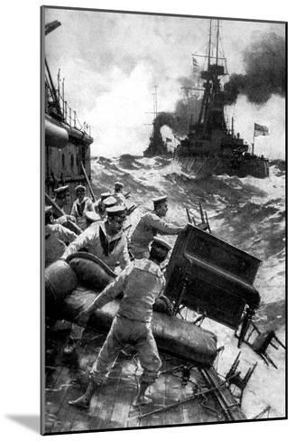 British Sailors Throwing Overboard Luxuries, North Sea, First World War, 1914--Mounted Giclee Print