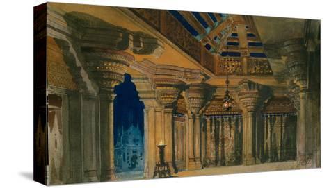 Stage Design for the Ballet La Bayadère by L. Minkus, 1884-Orest Karlovich Allegri-Stretched Canvas Print