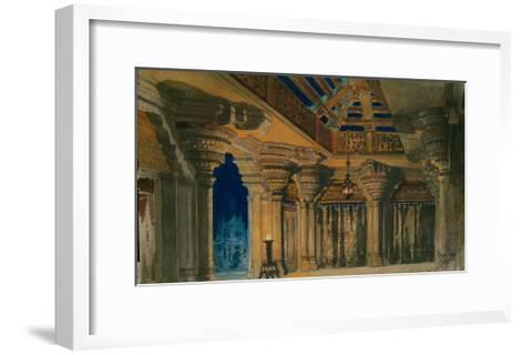 Stage Design for the Ballet La Bayadère by L. Minkus, 1884-Orest Karlovich Allegri-Framed Art Print