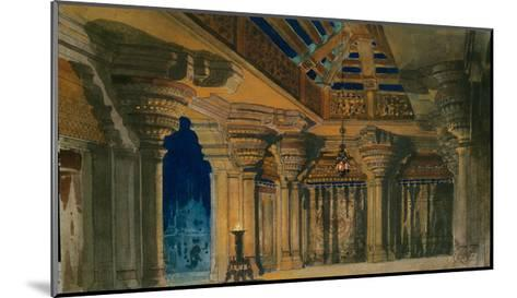 Stage Design for the Ballet La Bayadère by L. Minkus, 1884-Orest Karlovich Allegri-Mounted Giclee Print
