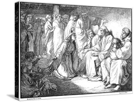 Jesus Speaking with the Woman of Canaan, 1865--Stretched Canvas Print