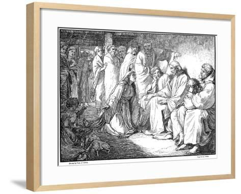 Jesus Speaking with the Woman of Canaan, 1865--Framed Art Print