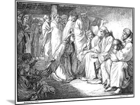 Jesus Speaking with the Woman of Canaan, 1865--Mounted Giclee Print