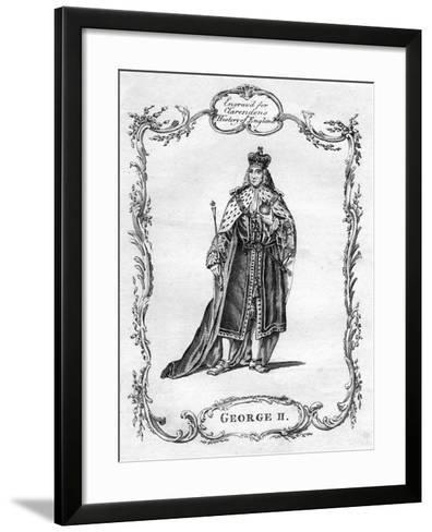 George II of Great Britain--Framed Art Print